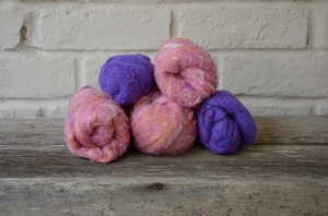 Wool roving from Attic Heirlooms
