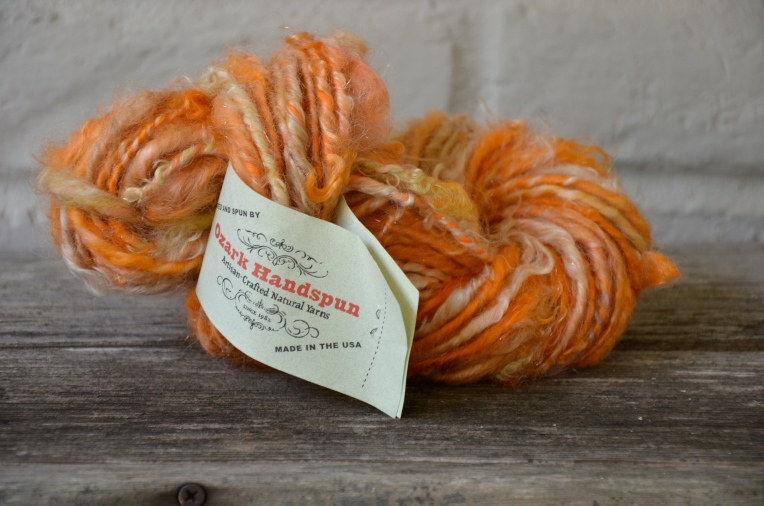 Ozark Handspun - 1 skein orange