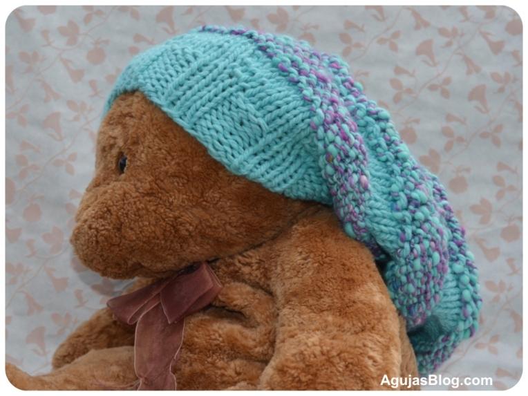 Bear modeling beehive hat