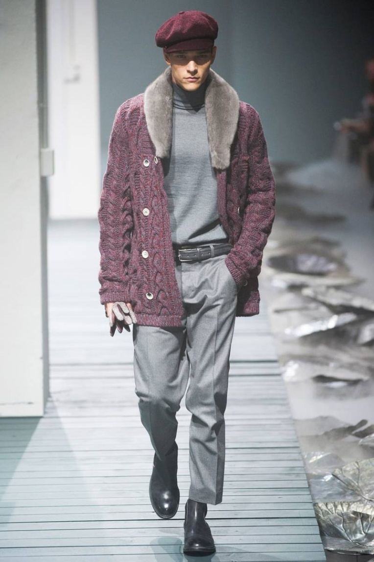 Corneliani Fall/Winter 2013 Cable Knit Cardigan