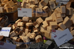 Varieties of fudge at Torvehallerne.