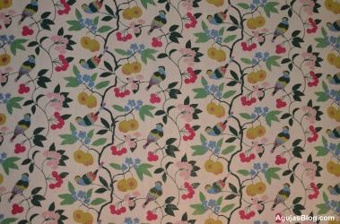 Kirsebaer, a lovely textile designed by Marie Gudme Leth, 1946.