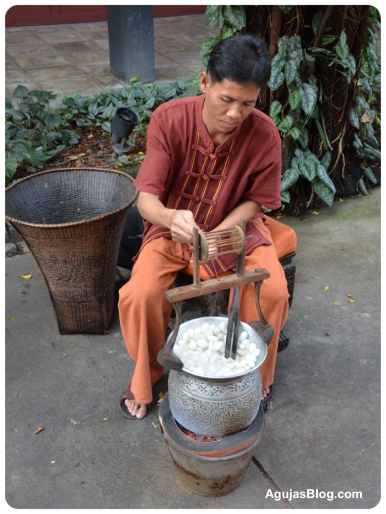 Spinning Silk from Cocoons