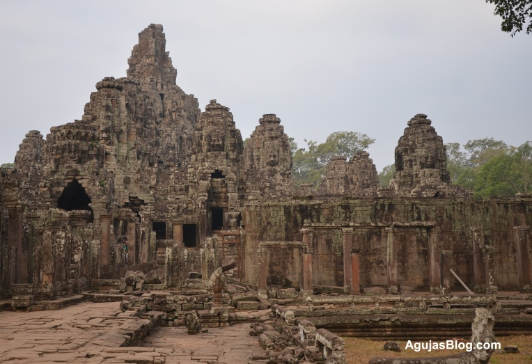 Some of the many temple ruins. Do you see the faces?