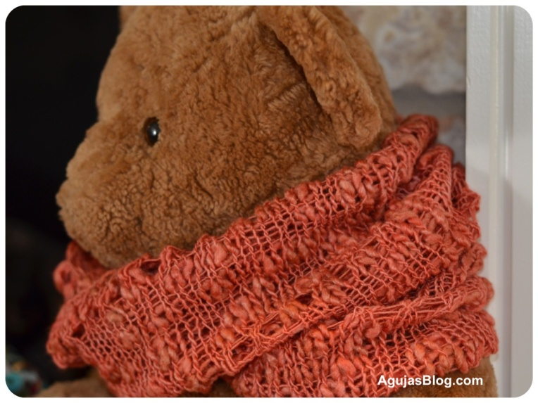 Dew Drops Cowl in Orange Close-up