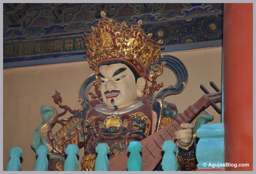 Northern King with a Pipa in the Hall of the Heavenly Kings