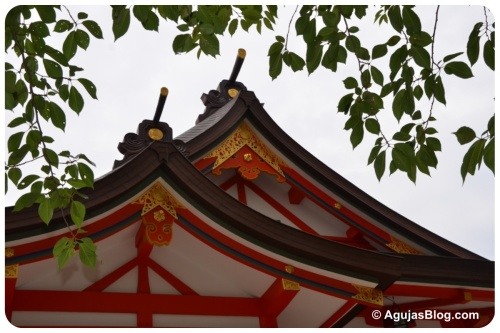 Hanazono Shrine - roof detail