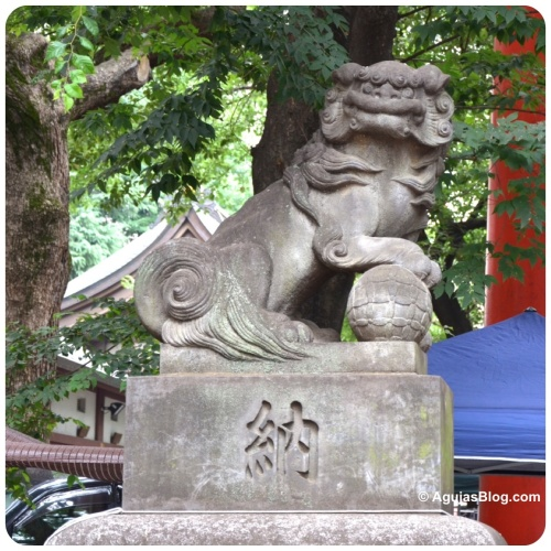 Hanazono Shrine - lion