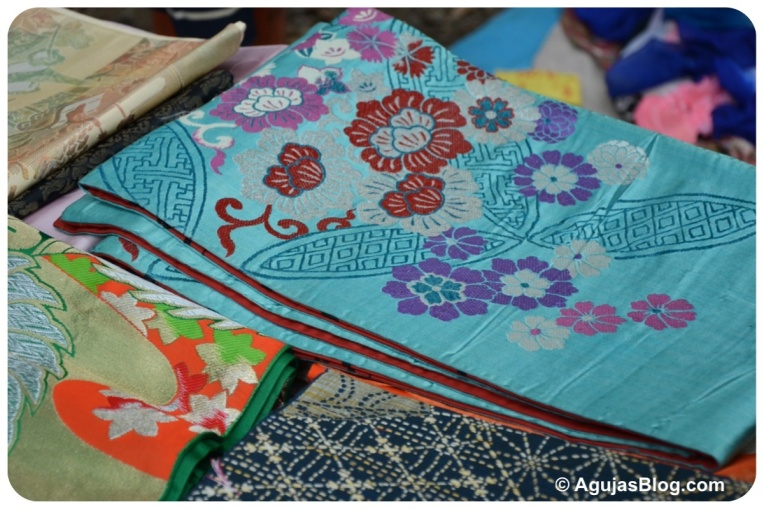 Hanazono Shrine Market - colorful kimono sashes