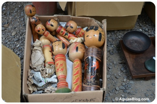 Hanazono Shrine Market - wooden dolls