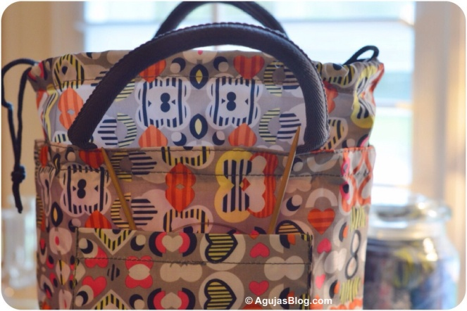 China Knitting Bag Outside Pocket