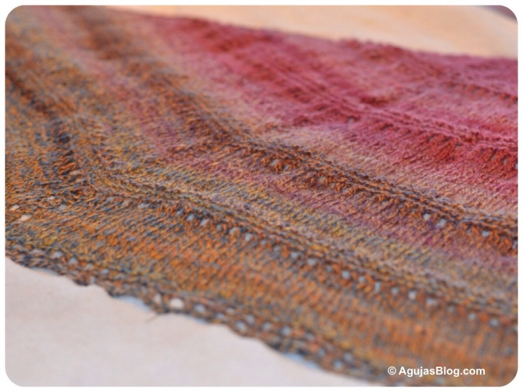 Azzu's Shawl - Blocking 1