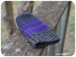 August - Purple Ribbed Hat