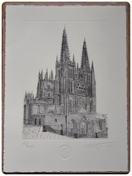 Holguera Lithograph Catedral de León
