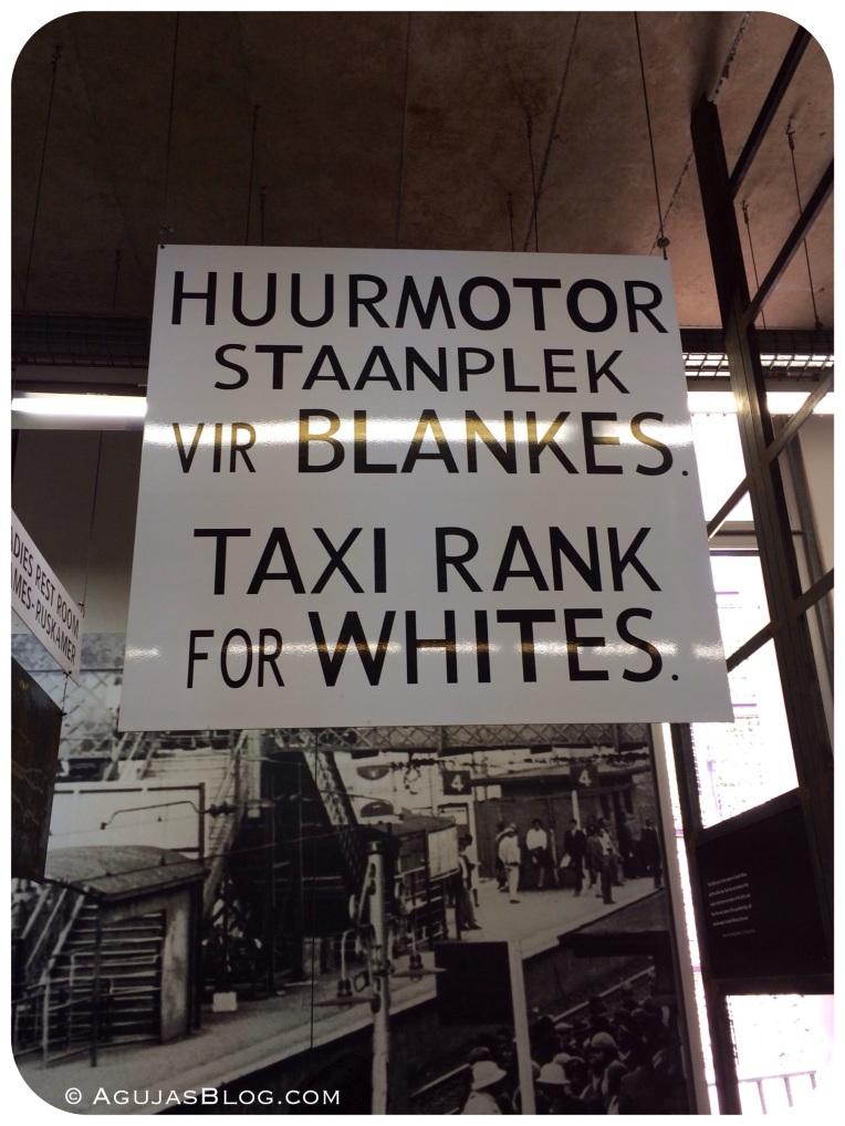 Apartheid Museum Taxi Sign