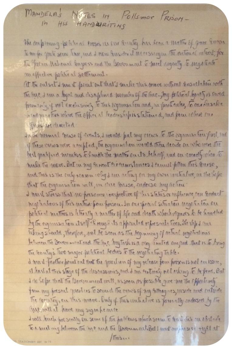 Soweto Mandela's Letter from Prison