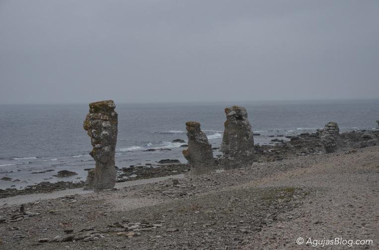 Sea stacks at Langhammars