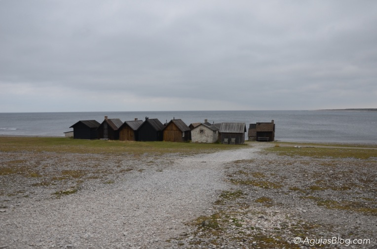 Fishing cabins at Helgumannen, Fårö