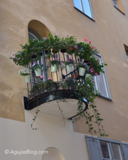 Adorable balcony somewhere in Gamla Stan.