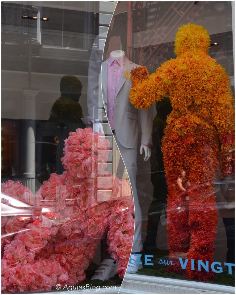 Flowery window displays in SoHo