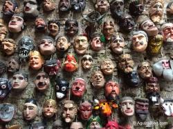 Masks at Nim Po't Centro de Textiles Tradicionales